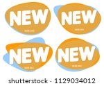 set new tags  bubble banner... | Shutterstock .eps vector #1129034012