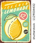lemonade promotional retro... | Shutterstock .eps vector #1129034432