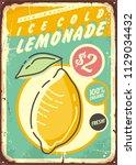 lemonade promotional retro... | Shutterstock .eps vector #1129034432