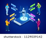 isometric artificial... | Shutterstock .eps vector #1129039142