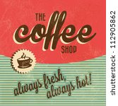 retro vintage coffee background ... | Shutterstock .eps vector #112905862