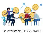 investment management. business ... | Shutterstock .eps vector #1129076018