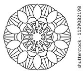 flower mandala vector... | Shutterstock .eps vector #1129082198