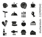 symbol set of black color with... | Shutterstock .eps vector #112909342