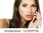 beauty portrait of beautiful... | Shutterstock . vector #112909756
