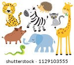 vector illustration of cute... | Shutterstock .eps vector #1129103555