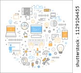 vector line web concept... | Shutterstock .eps vector #1129104455