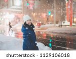 beautiful asian girl girl in a... | Shutterstock . vector #1129106018