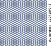 hexagonal mesh pattern in blue... | Shutterstock .eps vector #1129109345