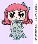 girl cute character design...   Shutterstock .eps vector #1129111568