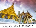 wat phra kaew or wat phra si... | Shutterstock . vector #1129116515