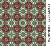 zigzag and stripe line  rhombus ...   Shutterstock .eps vector #1129120685