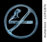 """""""no smoking"""" sign created from... 
