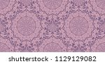 seamless pattern with cosmic... | Shutterstock .eps vector #1129129082