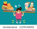 the food that is not useful... | Shutterstock .eps vector #1129143032