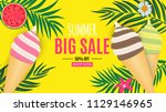 abstract summer sale background ... | Shutterstock .eps vector #1129146965