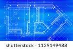 architecture design  blueprint... | Shutterstock .eps vector #1129149488