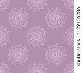 seamless damask wallpaper... | Shutterstock .eps vector #1129156286