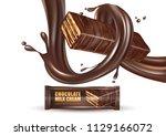 milk chocolate flavor with... | Shutterstock .eps vector #1129166072