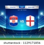 croatia vs england scoreboard...   Shutterstock .eps vector #1129171856