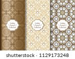 collection of ethnic and damask ... | Shutterstock .eps vector #1129173248