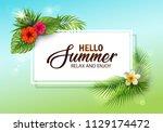 vector illustration of summer... | Shutterstock .eps vector #1129174472