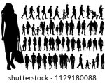 vector  isolated  silhouette... | Shutterstock .eps vector #1129180088