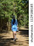 beautiful young woman enjoy by ... | Shutterstock . vector #1129188185