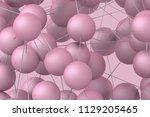 abstract 3d rendering of modern ... | Shutterstock . vector #1129205465