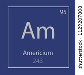 americium am chemical element... | Shutterstock .eps vector #1129207808