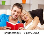 bright picture of happy couple... | Shutterstock . vector #112922065