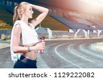 young fitness muscle sporty...   Shutterstock . vector #1129222082