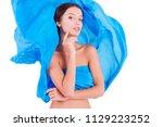 pure clean beauty pretty girl   ...   Shutterstock . vector #1129223252