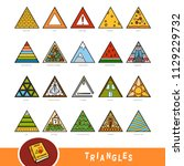Colorful Set Of Triangle Shape...