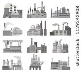 different factories flat... | Shutterstock .eps vector #1129242908