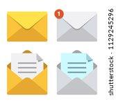 letter in mail envelope.... | Shutterstock .eps vector #1129245296