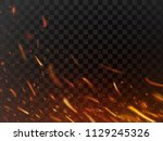 close up hot fiery sparkles and ... | Shutterstock .eps vector #1129245326