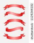 vector ribbons banners isolated ... | Shutterstock .eps vector #1129249232