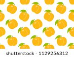 seamless pattern with orange... | Shutterstock .eps vector #1129256312