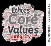 vector conceptual core values...   Shutterstock .eps vector #1129261862