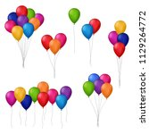 collection of colorful balloons | Shutterstock . vector #1129264772