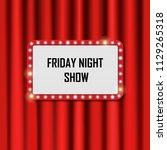 shiny frame for friday show on... | Shutterstock . vector #1129265318