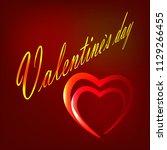 valentines day. typography... | Shutterstock .eps vector #1129266455