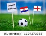 croatia and englandnational... | Shutterstock . vector #1129273388