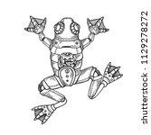mechanical frog animal... | Shutterstock .eps vector #1129278272