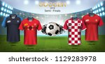 semi finals of football cup... | Shutterstock .eps vector #1129283978