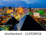 Stock photo las vegas august an aerial view of las vegas strip on august in las vegas nevada 112928926