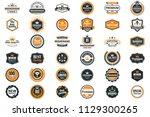 vintage retro vector logo for...   Shutterstock .eps vector #1129300265