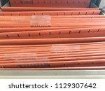 office clerk searching for... | Shutterstock . vector #1129307642