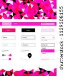 light pink vector web ui kit in ...